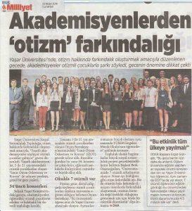İZOT Milliyet Ege Gazetesi Haberi - 23 Nisan 2016