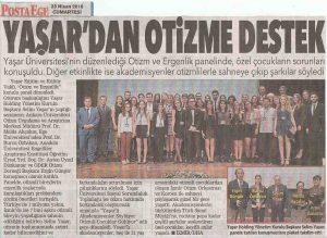 İZOT Posta Ege Gazetesi Haberi - 23 Nisan 2016