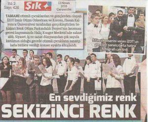 İZOT Sözcü Şık Gazetesi Haberi - 13 Nisan 2016