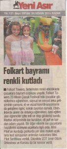 İZOT Yeni Asır Gazetesi Haberi - 24 Nisan 2016