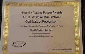 ANCA World Autism Festival 2015 Beril Zorlu